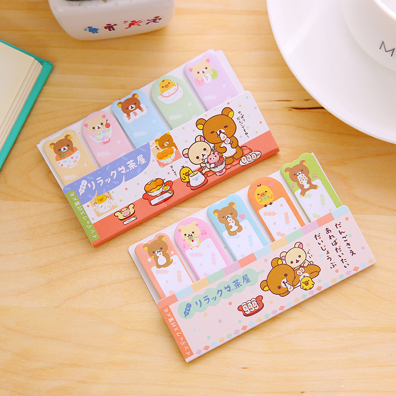 1 PCS New Cute Easy Bear Index Notes  Memo Pad Sticky Notes Memo Notebook Stationery Note Paper Stickers School Supplies