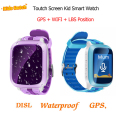 New GPS Waterproof Smart Baby Watch Anti-lost SOS Monitor Child Gift Smartwatch Phone Touch Screen Baby GPS Watch pk q90 q60 q50