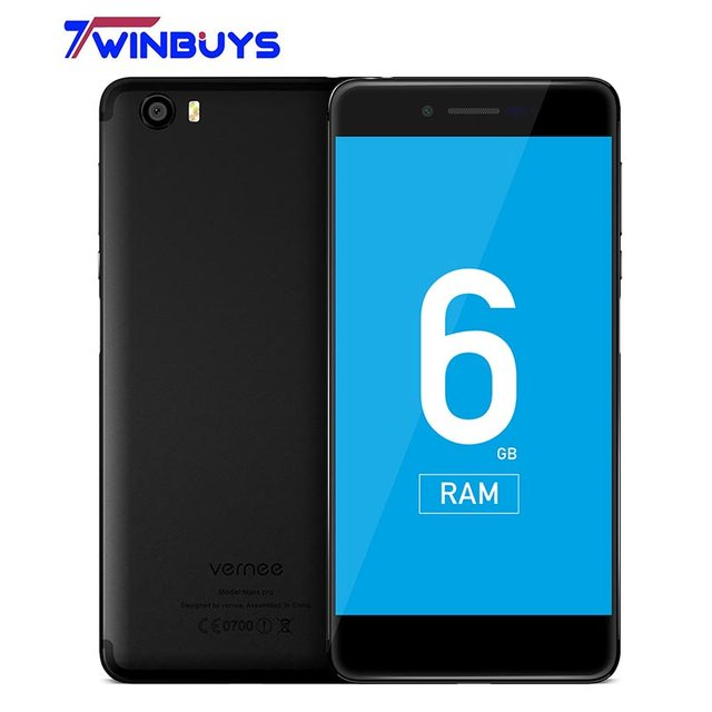 Vernee Mars Pro MTK6757T Octa-core 6G RAM 64G ROM Android 7.0 Mobile Phone 5.5 Inch 13.0MP Cell Phone 4G Fingerprint Smartphone