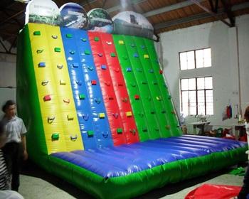 Dla dzieci w pomieszczeniach używane ściana wspinaczkowa nadmuchiwane ściana wspinaczkowa dla dzieci tanie i dobre opinie XZ-CW-048 Dziecko Indoor kids used rock climbing wall inflatable rock climbing wall for 0 5mmPVC L5m*W4m*H6m 110-220v Large Outdoor Inflatable Recreation