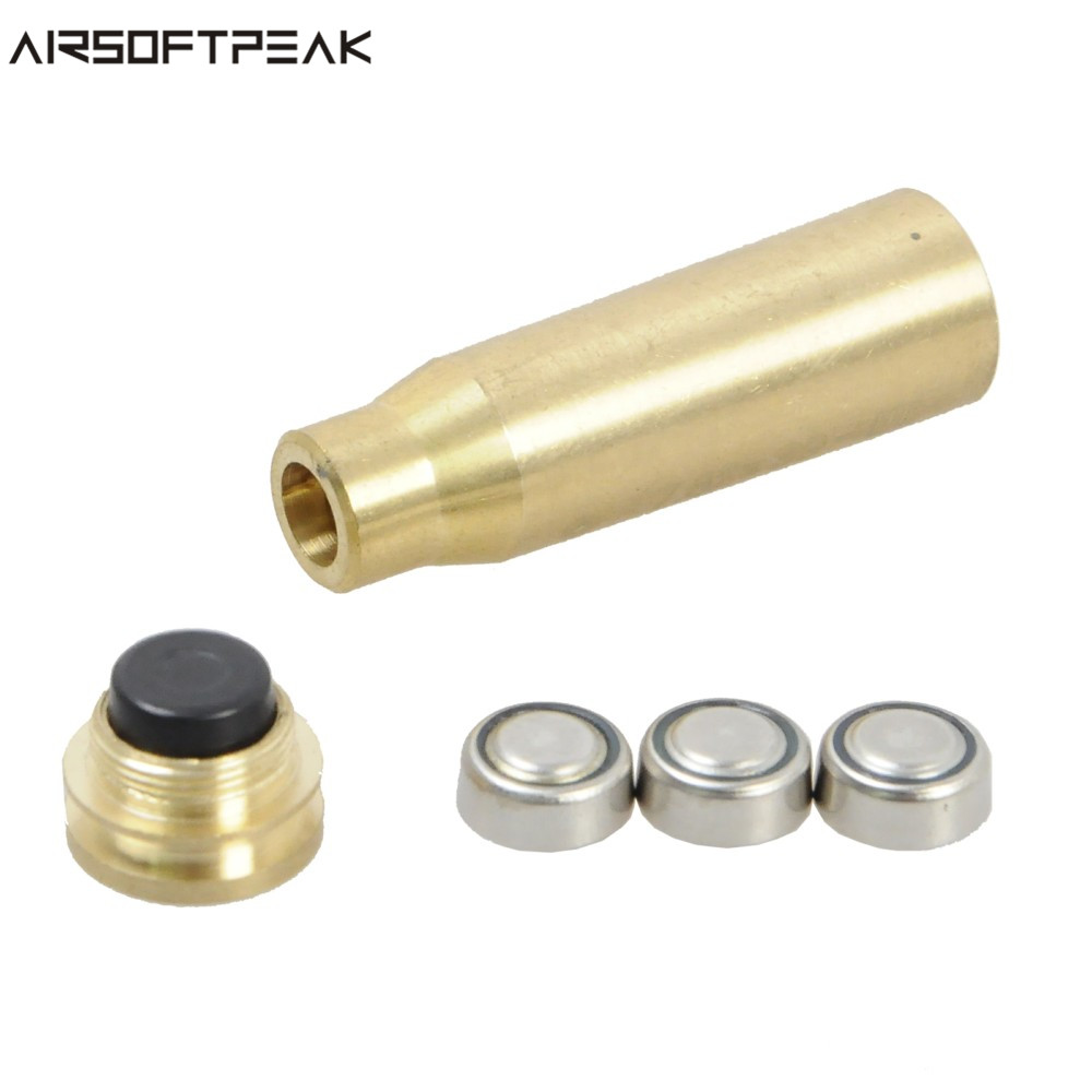 Sport Softair CAL 7.62x39 Cartuccia Laser Rosso Sight Sighter Brass Avvistamento Caliber per Paintball Tactical Caccia Sight