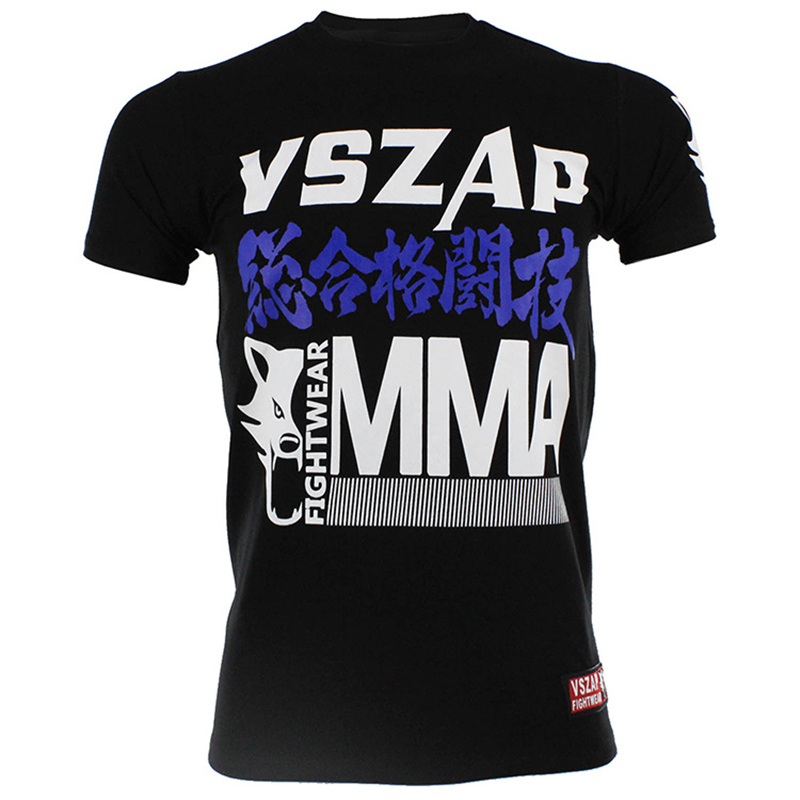 MMA Men's Women's T Shirt UFC Muay Thai Boxing Workout Tee Adult Kickboxing T Shirts Training