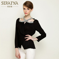 New Paiya Brand Autumn Long Sleeved Beaded Chiffon Shirt Slim Slim Shirt Wholesale