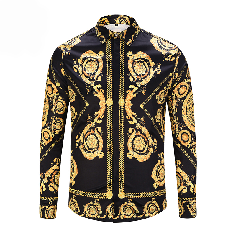 百思买 ) }}PLstar Cosmos Luxury Men's Shirts Fashion Brand Designer Man Fancy Shirts Mens Casual Slim