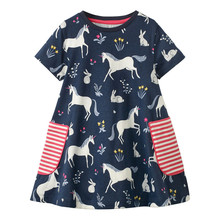 Little Girls Princess Dress Unicorn Party Baby Girl Clothes Summer Children Casual Dress Kids Dresses for Girls