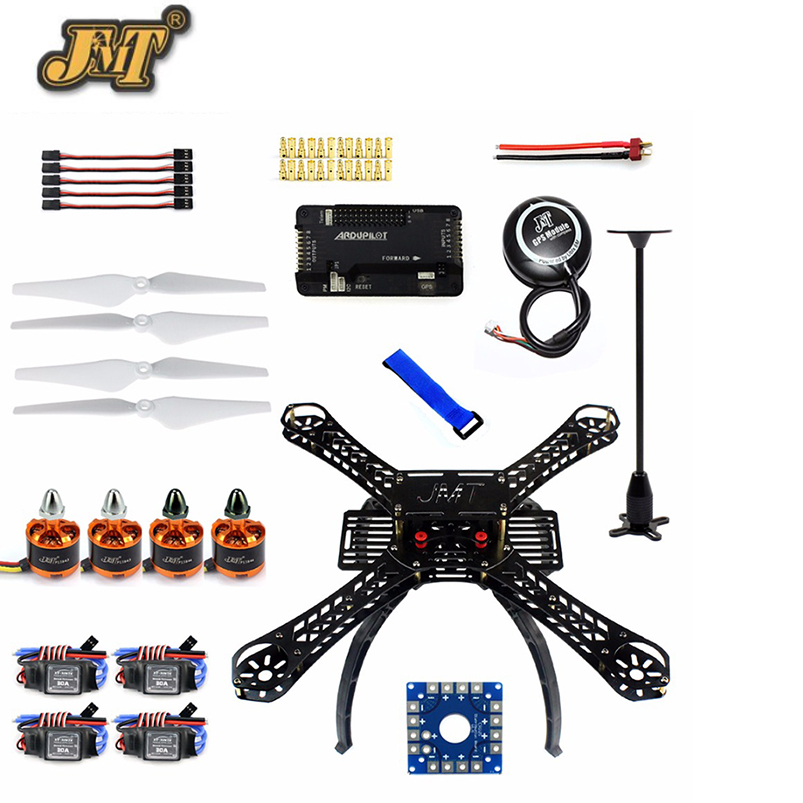 JMT DIY RC Drone Quadrocopter X4M380L Frame Kit with APM 2.8 Flight Control GPS Propeller 30A ESC Motor for DIY Quadcopter f02015 g 6 axis foldable rack rc quadcopter kit apm2 8 flight control board gps 1000kv brushless motor 10x4 7 propeller 30a esc