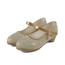 ULKNN High shoes for Girls 2019 new fashion hot children show dance waterproof platform princess casual wild girl