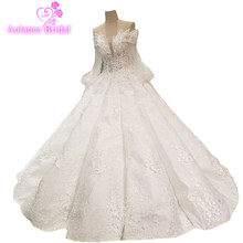 AOLANES Floor-length Bridal Gowns Ball Gown Wedding Dresses