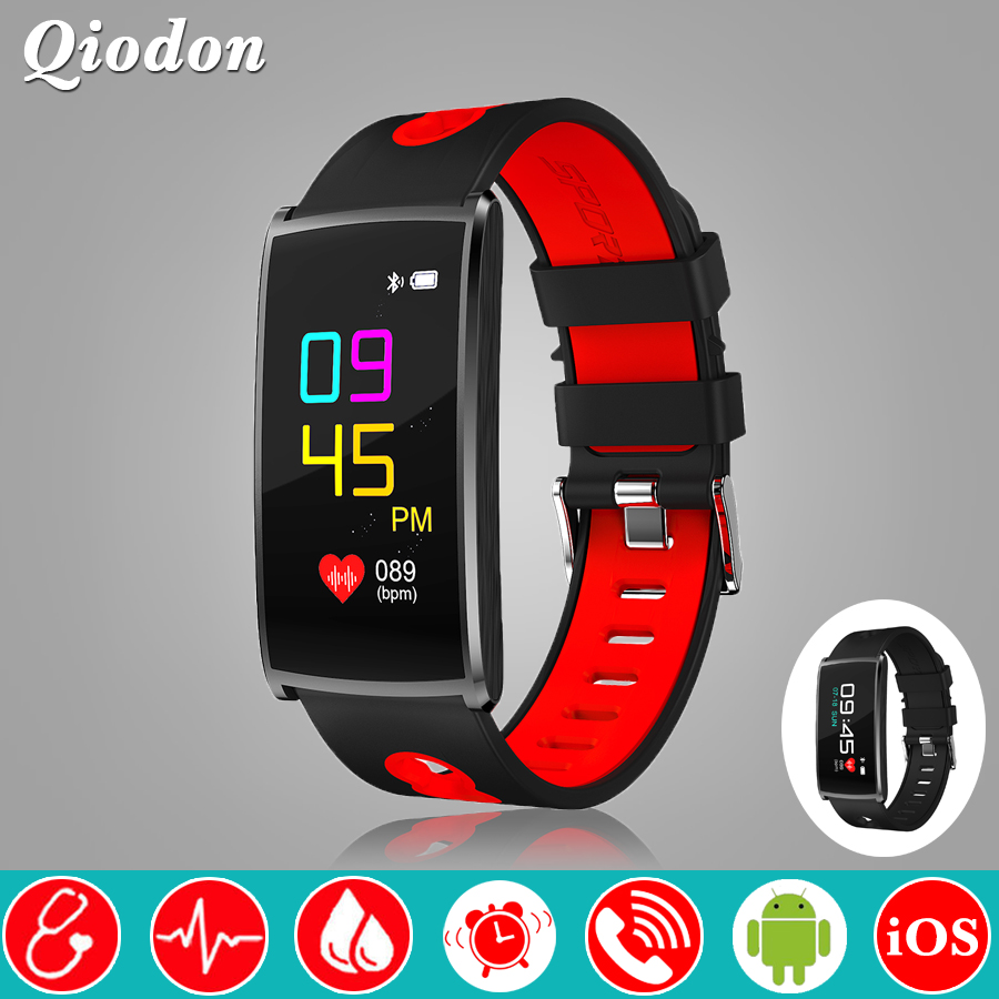 Fashion Color Screen Blood Pressure Heart Rate Monitor Bluetooth Smart Watch Clock Smartwatch Swim Fitness Watch For Android iOS jaysdarel heart rate blood pressure monitor smart watch no 1 gs8 sim card sms call bluetooth smart wristwatch for android ios