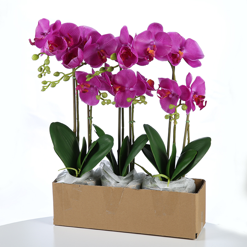 1 Vase High-quality Beautiful Artificial Flowers Flower Bonsai Restaurant Hotel home table placed accessories flowers CHENCHENG