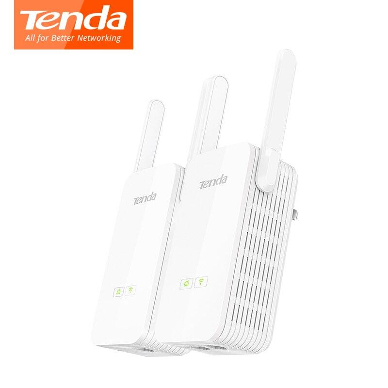 1 paire Tenda PH15 Adaptateur Powerline 1000 Mbps Gigabit PLC Modem Homeplug wifi Routeur 2 * Antennes Réseau Powerline Adaptateur