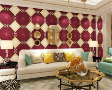 beibehang Modern minimalist 3D, three-dimensional diamond nonwoven wallpaper customs KTV box Hotel clothing store 3d