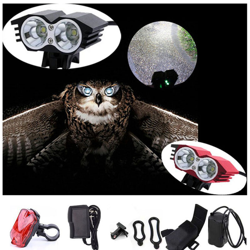 Bike Light X2 CREE XM-L T6 LED 5000Lumen Cycling Lamp HeadLight Headlamp  3 Modes with 18650 Battery Bicycle Accessory 18000 lumens bike headlamp flashlight 9x cree xm l2 led bicycle light cycling helmet headlight 18650 battery pack charger