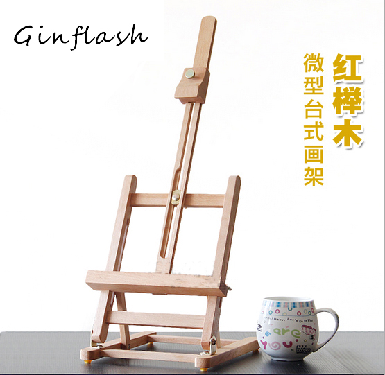 40cm Mini Artist Wooden Table Folding Painting Easel Frame Adjustable Tripod Display Shelf  Outdoors Studio Display Frame ACT012