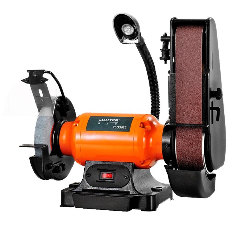 Polisher 6 Inch Bench Wheel Belt Machine Belt Machine Grinding Machine Woodworking Polishing Tool Grinders     - title=