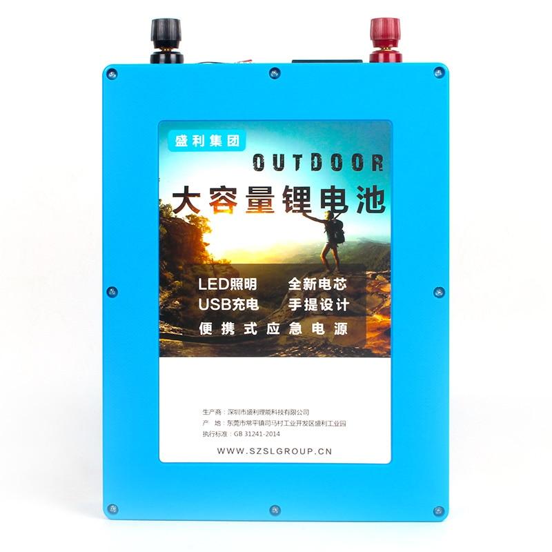 Kanavano 12 v 30Ah LifePo4 Batterie phosphate de lithium de fer bloc-pile avec 2 ports usb pour extérieure d'urgence puissance + 4A chargeur