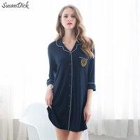 2017 Brand Sexy Summer Nightgown Women Comfortable Modal Home Clothing Sleepshirts Lady Elegant Mini Nightdress Sleepwear Pyjama