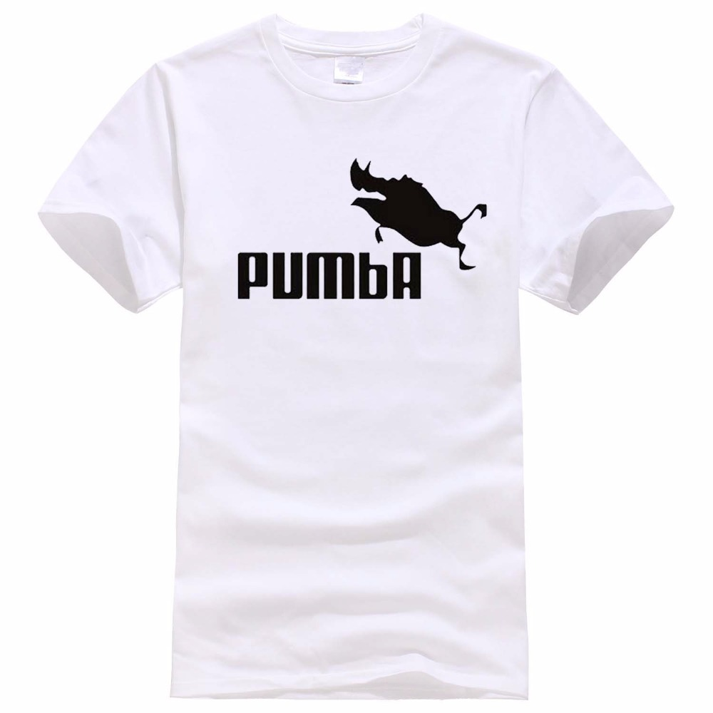 2018 funny tee cute t shirts homme Pumba men woman 100% cotton cool tshirt lovely kawaii summer jersey costume t-shirt shirt men