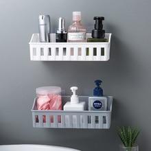 Plastic Makeup Rack Bathroom Storage Corner Kitchen Wall Mounted Shelf Organizer Shower Soap Dishes Make Up