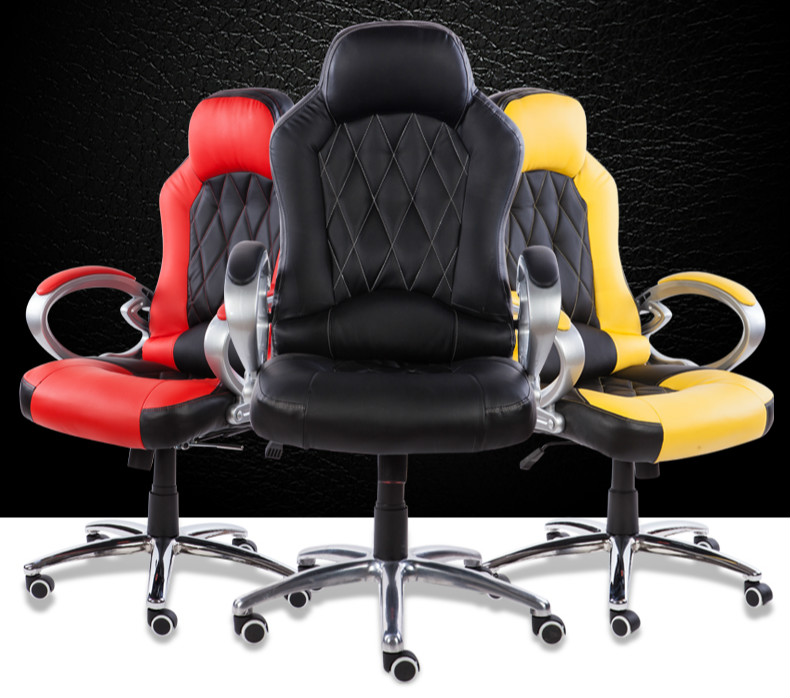COMFORT Home computer chair ergonomic boss chair fashion office chair racing seat electric chair staff high quality boss chair home computer chair pu office swivel chair seat bow lay staff meeting seat
