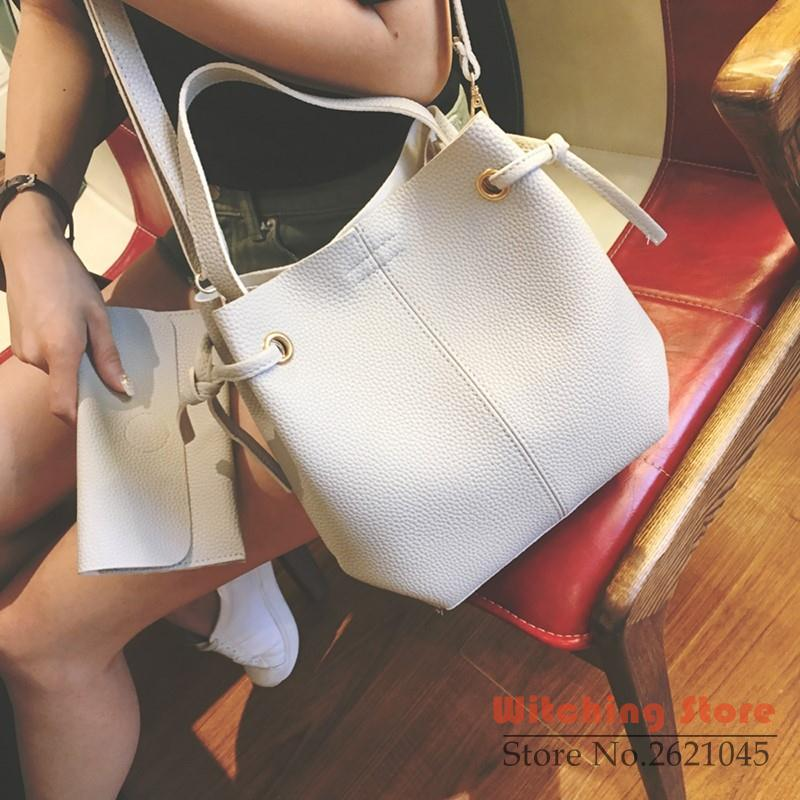 Perfect# In the autumn of  new Korean litchistria Bucket Bag Shoulder handbag si