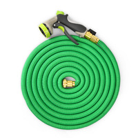 COZZINE 50FT Garden Hose 3 Times Expandable Magic Flexible Water Hose EU Plastic Hoses Pipe With Nozzle Spray Gun To Watering