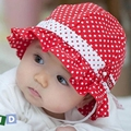 Niños niños niñas niños bebés sol lunares sombrero de la flor Bucket Cap Bowknot de la perla del