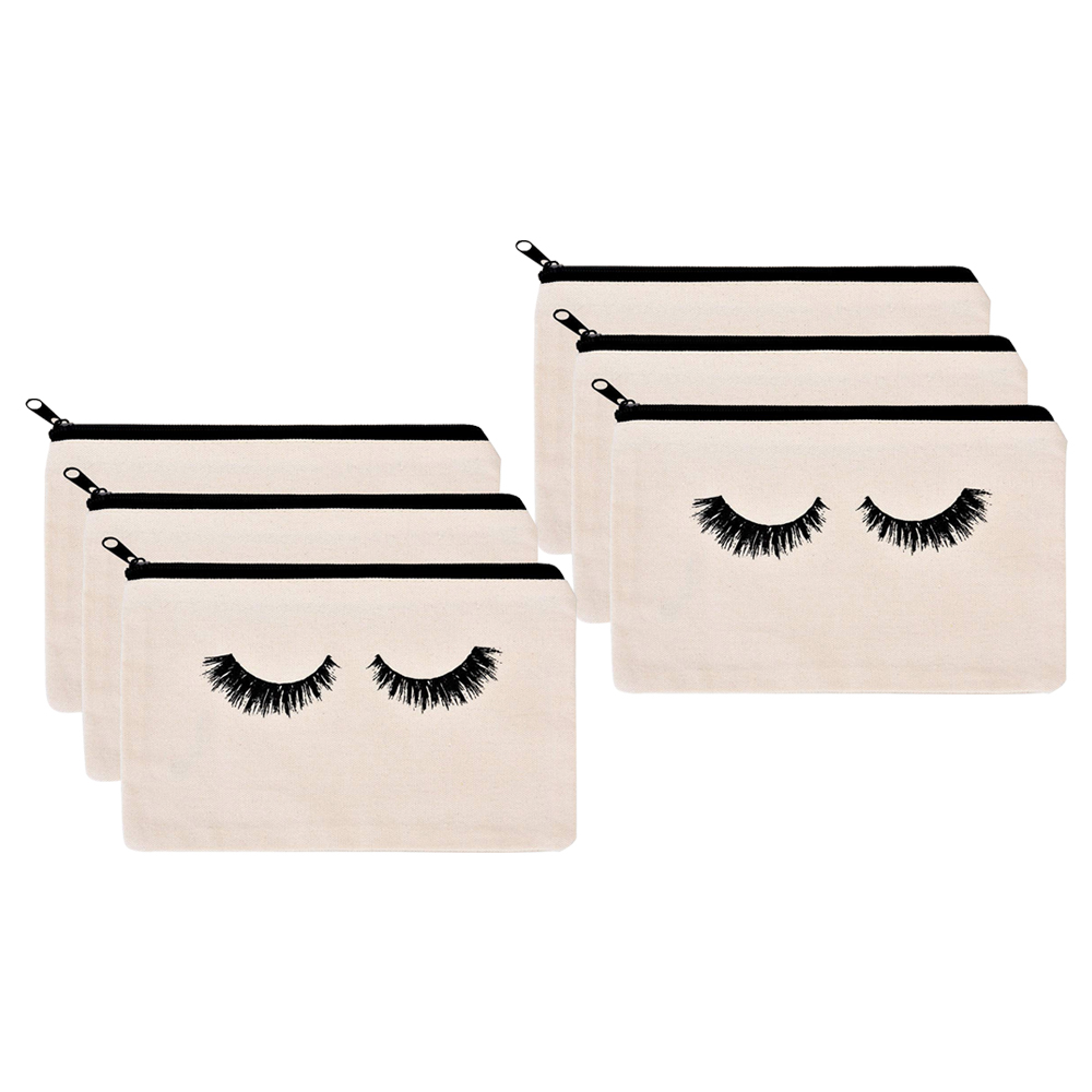 Mutifunctional Portable Cartoon Cosmetic Bags 3D Printed Eyelash with Letter Necessaries for Women Travelling Dropshipping in Eye Shadow Applicator from Beauty Health