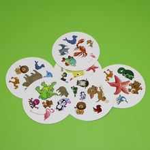 2018 flash pair animals card games for kids family fun spot with metal box 5 style Children love it board game