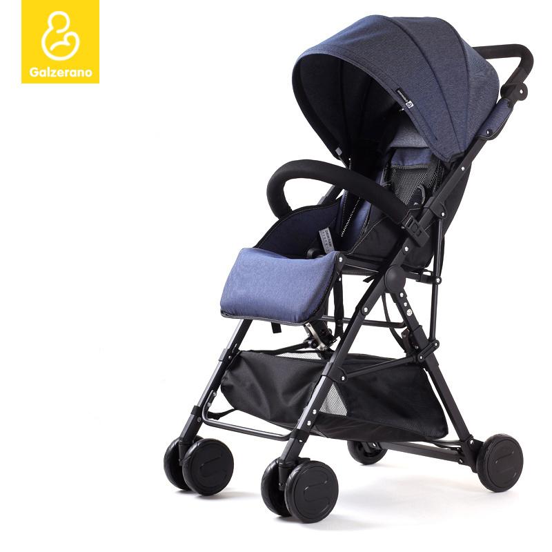 Ultra-light portable baby stroller folding child pocket bike baby bb hadnd car umbrella  storage cable