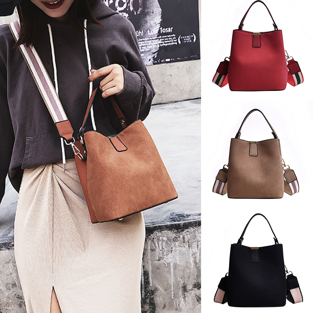 Fashion Women's Zipper Handbag Cross Body Single Wide Shoulder Strap Tote Bag  2020 Lowest Price  Top 1 New  Free Shipping