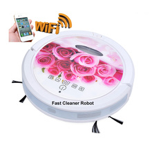 Wet And Dry Cleaning Robot Vacuum Cleaner With 150ml Water Tank,WIFI Smartphone App Control Independent Wet Mop and Dry Mop Part