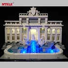 MTELE Brand LED Light Up Kit For Trevi Fountain Architecture Series Lighting Set Compatible With Lego 21020