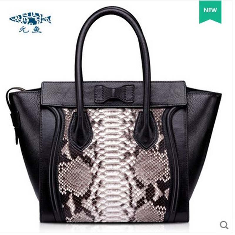 2018 yuanyu Новый Змеиной кожи кожаная сумка крыло сумка импортируется из питона натуральной змеиной кожи сумка
