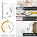 Умный Wi-Fi термостат регулятор температуры воды Электрический нагрев воды газовый котел работает с Alexa Echo Google Home <font><b>Tuya</b></font>