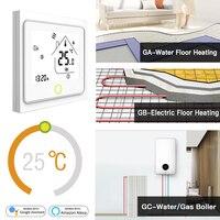 Умный Wi-Fi термостат регулятор температуры воды Электрический нагрев воды газовый котел работает с Alexa Echo Google Home Tuya