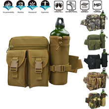 Man Waist Bag Bottle Holder Military Tactical Backpacks Travel Hiking Bags Durable Casual Multifunction Waterproof Outdoor D30