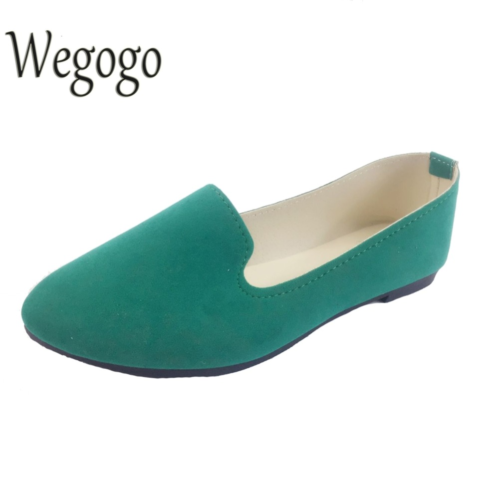 spring autumn loafer women shoes ladies ballet flats woman ballerinas casual shoe sapato zapatos mujer womens shoes plus size 43 Wegogo Plus Size Shoes Women Flats Candy Color Woman Loafers Spring Autumn Flat Shoes Women Zapatos Mujer Summer Shoes Size35-43