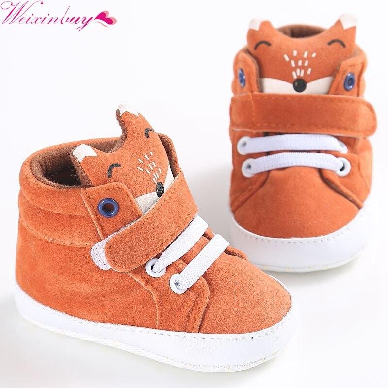 Winter Infantil Baby Shoes Boy Girl Cotton Head First Walker Canvas Sneaker Anti-slip Soft Sole Toddler Footwear