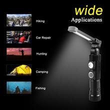 купить W549 USB Rechargeable Flashlight COB Multifunction Work Light Flashlight Outdoor Emergency Light Luz LED Torch 18650 дешево