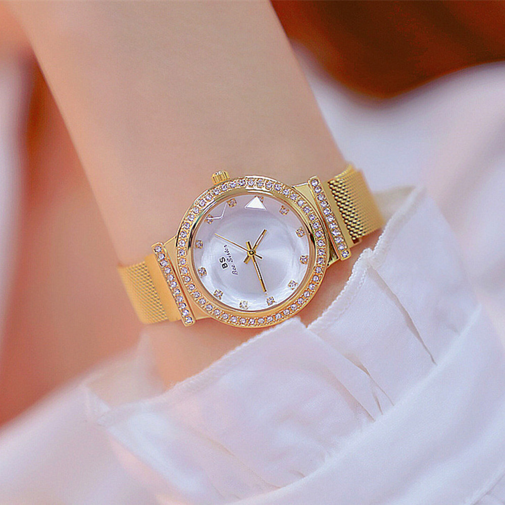 Womens blingbling Watches, BS Bee Sister Ladys Rhinestone Watch Female Steel Magnet Clasp Quartz Wristwatch Clocks Relogio Womens blingbling Watches, BS Bee Sister Ladys Rhinestone Watch Female Steel Magnet Clasp Quartz Wristwatch Clocks Relogio