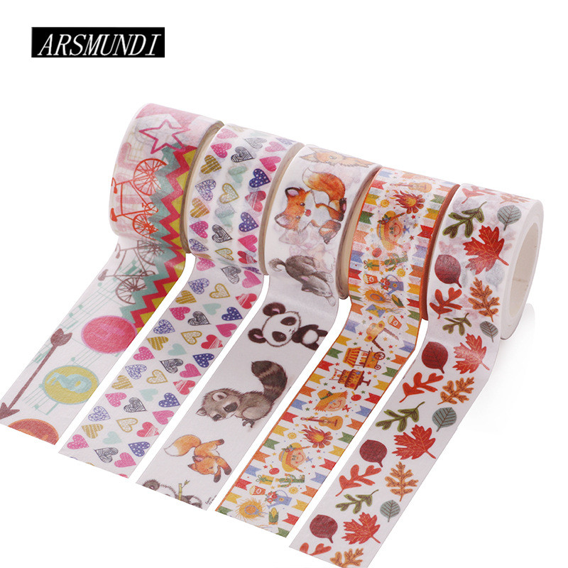 все цены на Flower Japanese Washi Tape Diy Scrapbooking Masking Tape School Supplies Stationery Papelaria Decorative Adhesive Tape washitape