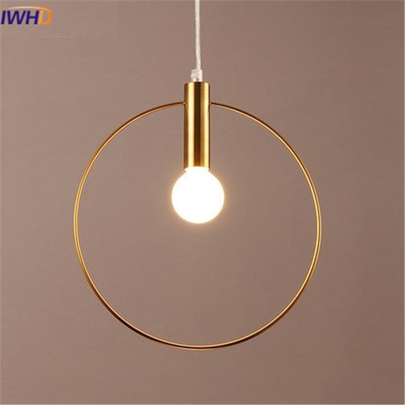 Modren LED Pendelleuchte Persönlichkeit abgerundete Eisen - Innenbeleuchtung