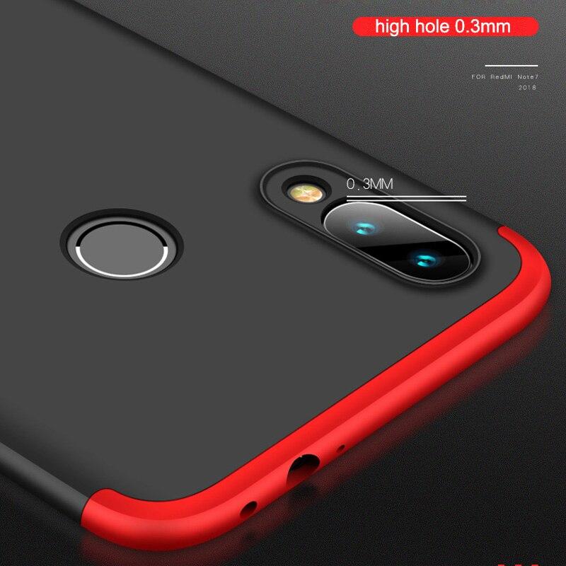HTB1qGU2aJzvK1RkSnfoq6zMwVXa6 3-in-1 Plastic Hard 360 Tempered Glass + Case for Xiaomi Redmi Note 7 Anti-Shock Back Cover Case for Xiaomi Redmi Note 7 Pro 7A
