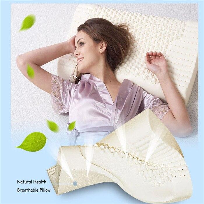 100 Natural Latex Pillow Contour Neck Pillow For Adults