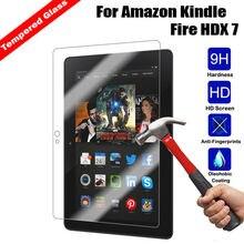 """9 H 0.3 мм 2.5D взрывозащищенные закаленное Стекло для Amazon Kindle Fire HDX """" Планшеты pc Плёнки Экран защитную крышку"""