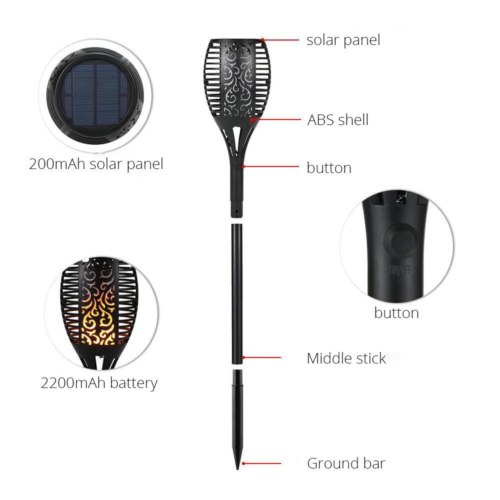 Outdoor Led Light Is Flickering: LED Outdoor Solar Flame Flickering Lamp Torch