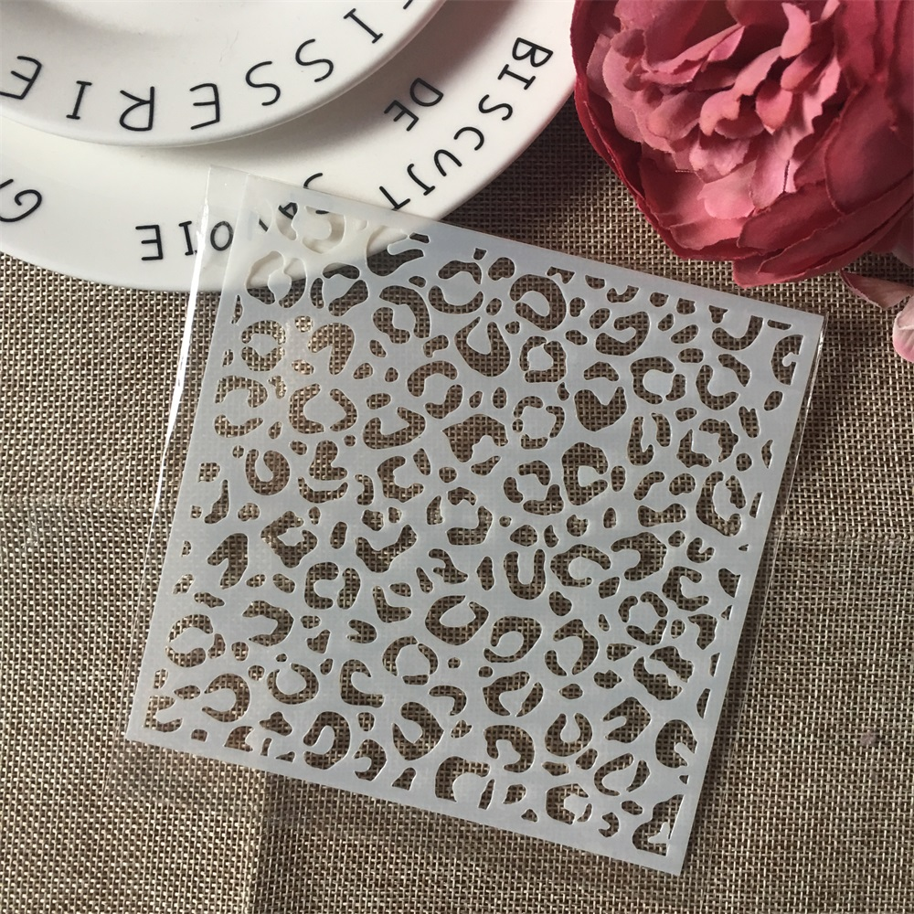 1Pcs 13cm Ink Dot Texture DIY Craft Layering Stencils Wall Painting Scrapbooking Stamping Embossing Album Paper Card Template