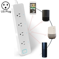 Haweel WIFI Extension Socket 10A Home Smart WiFi Remote Timing Switch Power Strip Surge Protector 4 Outlet Extension Socket
