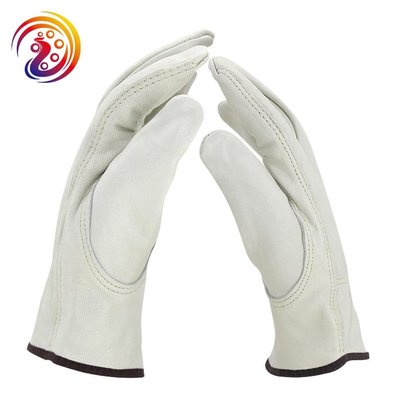 OLSON DEEPAK Work Gloves Sheepskin Leather Safety Protection Soft Working Drivers Repairman Gardening Gloves for Men Women HY005 gurpreet kaur deepak grover and sumeet singh chlorhexidine chip